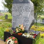 """Piemineklis, kas atrodas kapsētas augšējā daļā, netālu no ieejas. Foto: muzejs """"Ebreji Latvijā"""""""